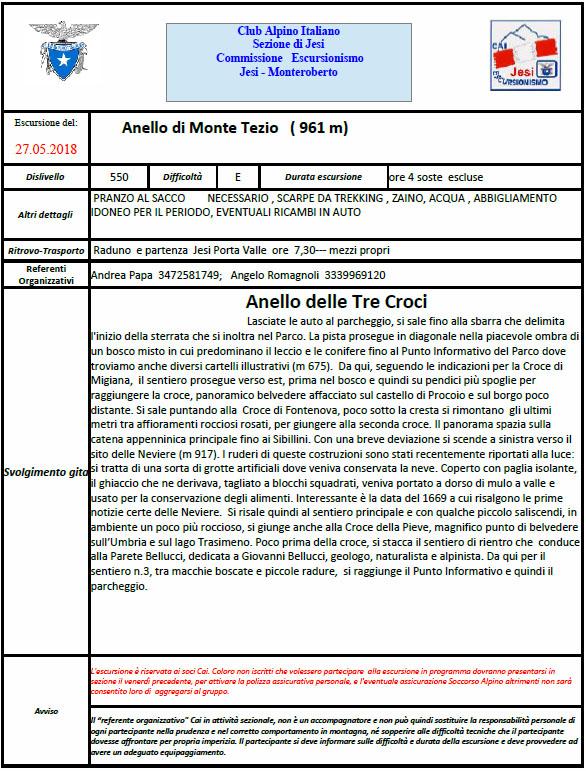 27 Maggio 2018 – Mt. Tezio – Anello delle tre Croci