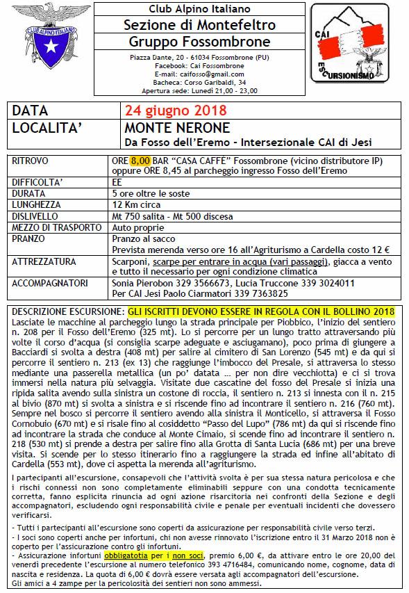 24 Giugno 2018 – Monte Nerone – Intersezionale