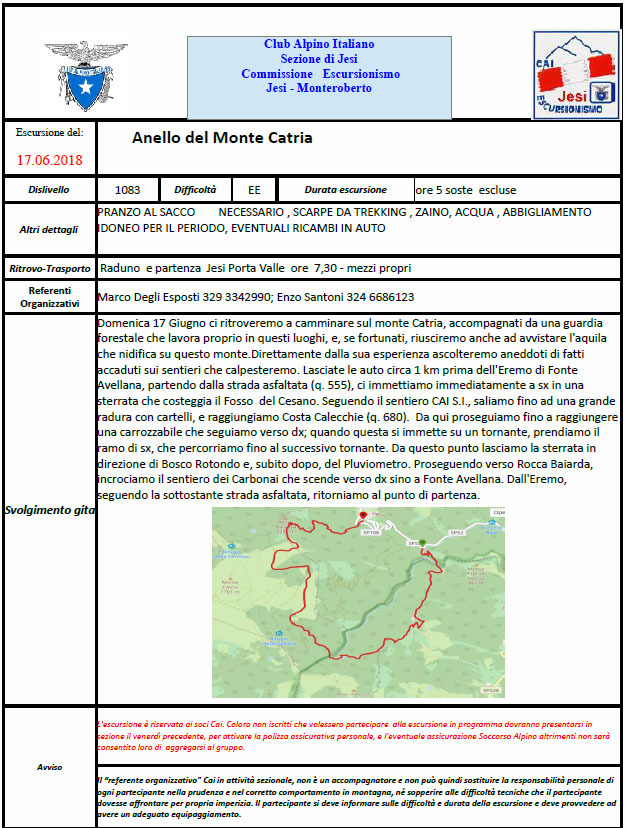 17 Giugno 2018 – Anello Mt. Catria