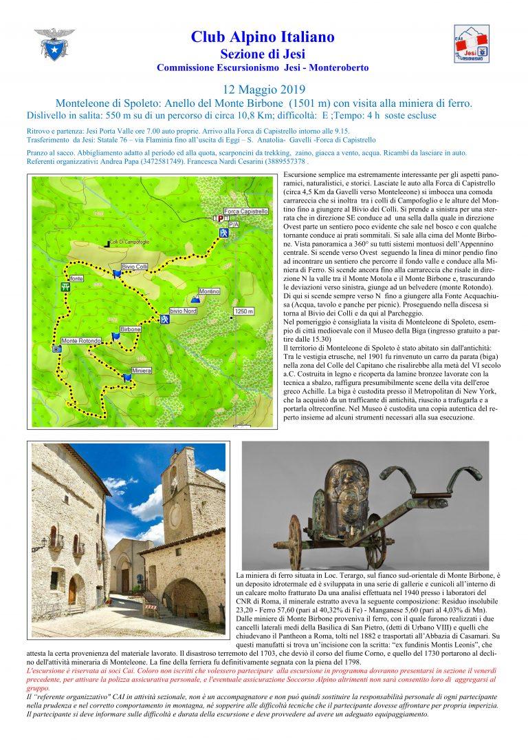 12 maggio 2019 – Monteleone di Spoleto – Escursionismo