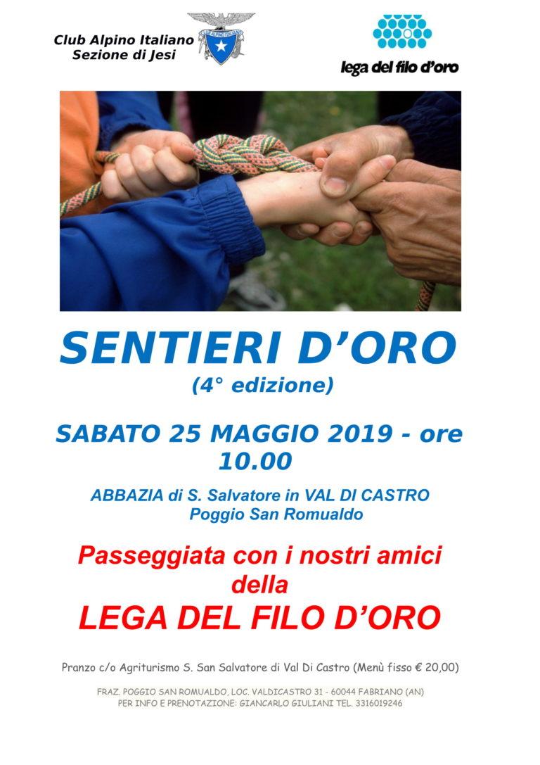 25 Maggio 2019 – SENTIERI D'ORO – VAL DI CASTRO