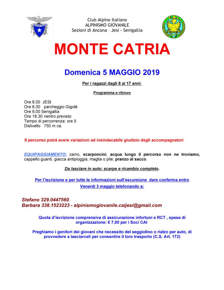 5 Maggio Alpinismo giovanile al Catria rimandato al 12 maggio causa maltempo. Aggiornamento: Annullato 12 maggio causa maltempo