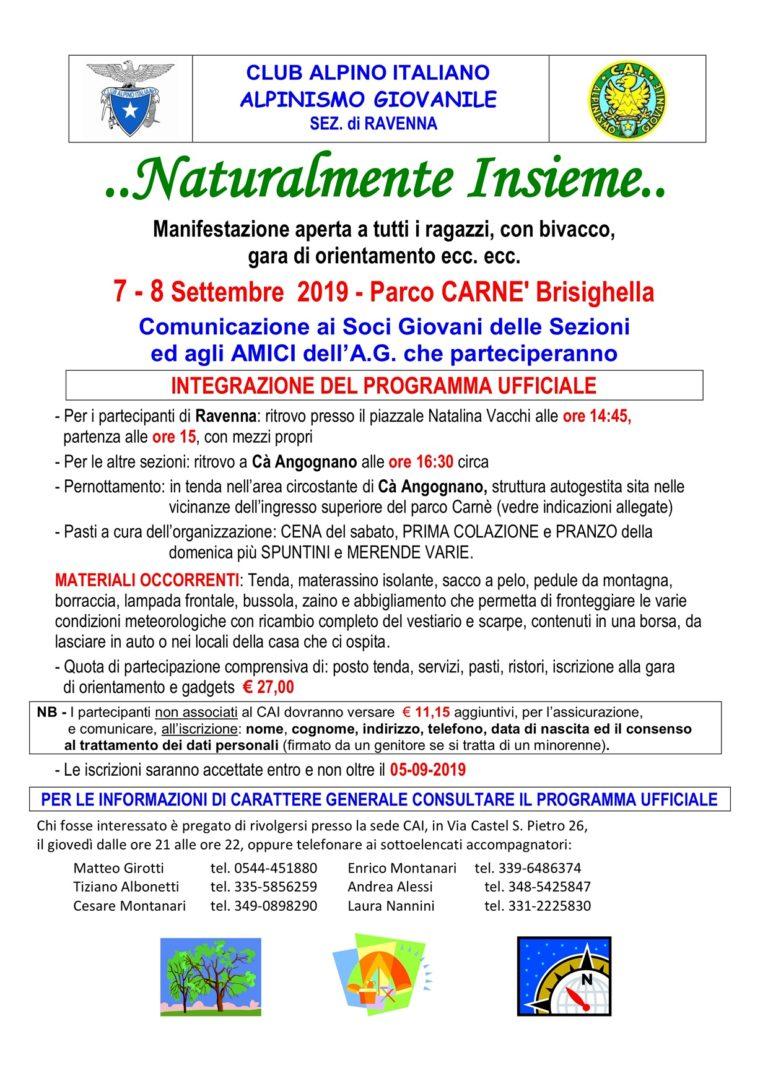 7-8 settembre Naturalmente Insieme – CAI Ravenna – piccoli