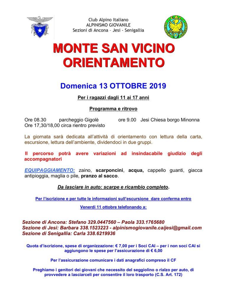 13 ottobre Gioco dell'orientamento Alpinismo Giovanile