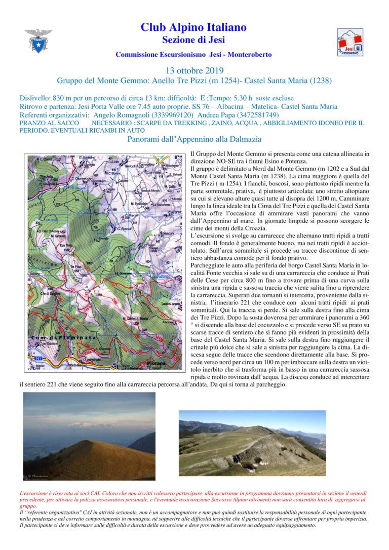 13 ottobre 2019 – mt. Gemmo anello Mt. Santamaria