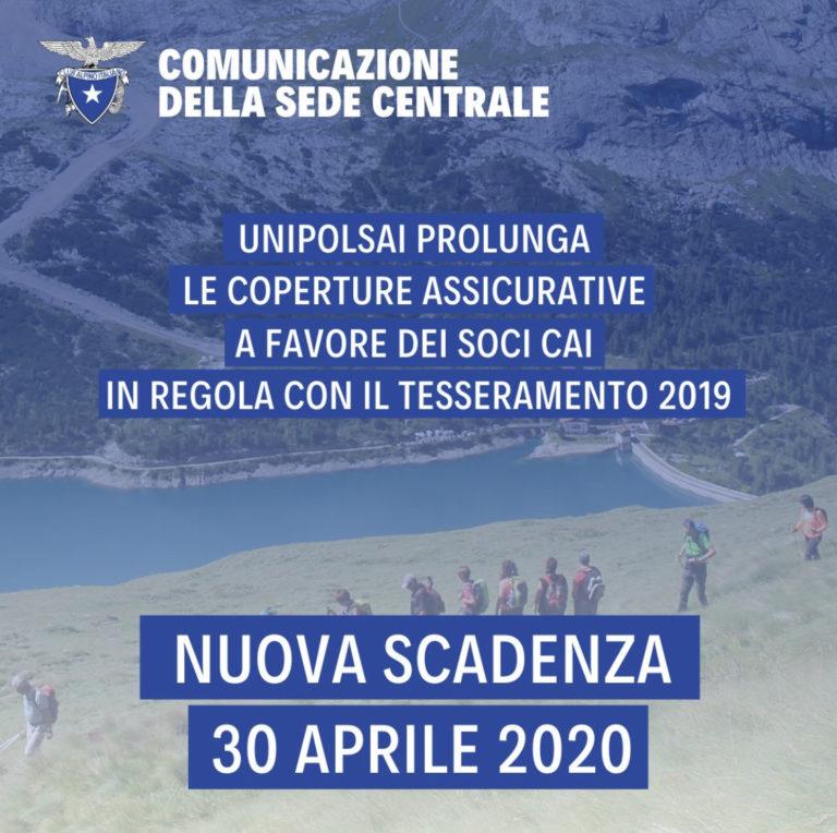 RINNOVO TESSERA CAI-PROGRAMMA 2020