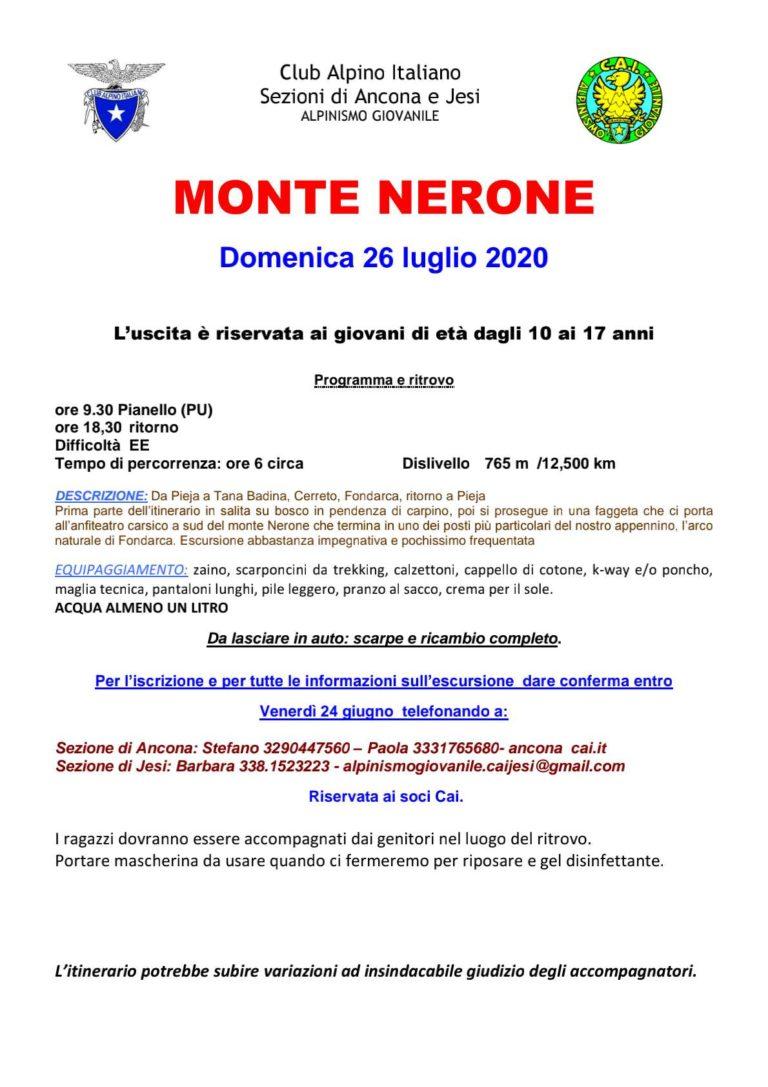 Alpinismo Giovanile al Nerone domenica 26 luglio