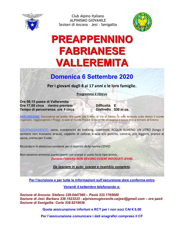 Alpinismo Giovanile intersezionale domenica 6 settembre