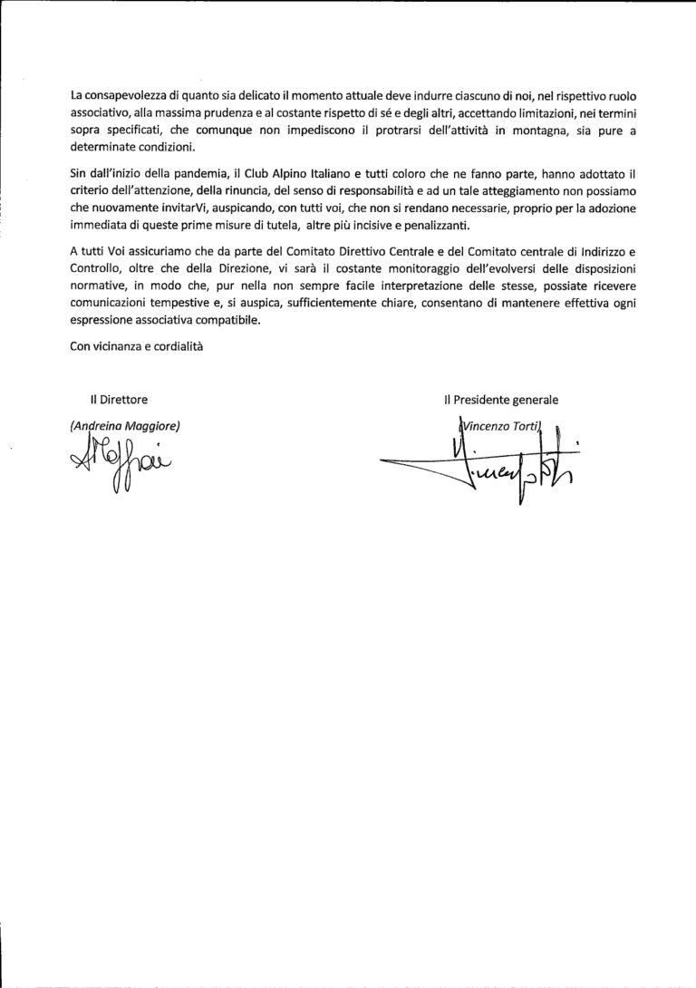 Chiarimenti Presidente Generale 28/10/20