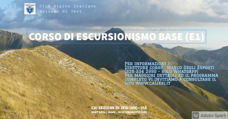 CORSO BASE DI ESCURSIONISMO E1