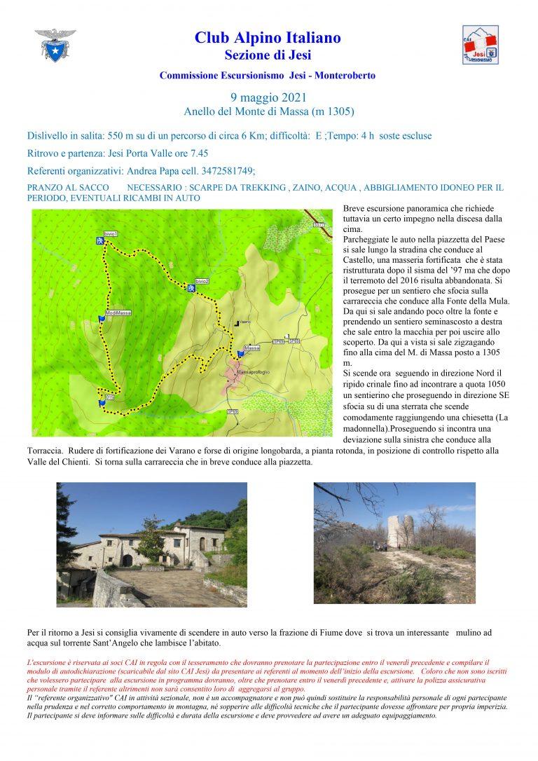 Domenica 9 maggio – Anello del Monte di Massa