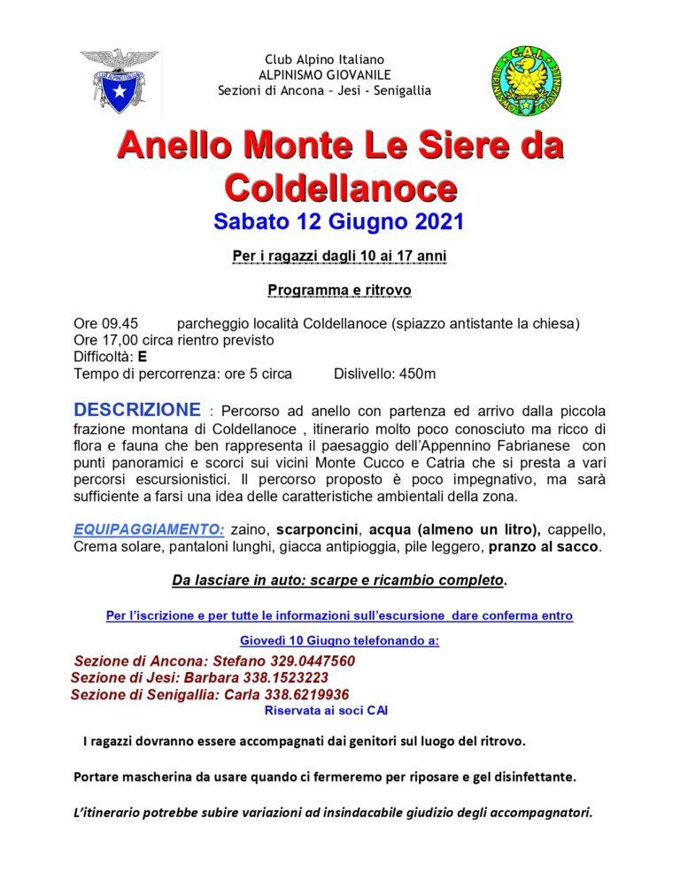 Sabato 12 giugno alpinismo giovanile intersezionale