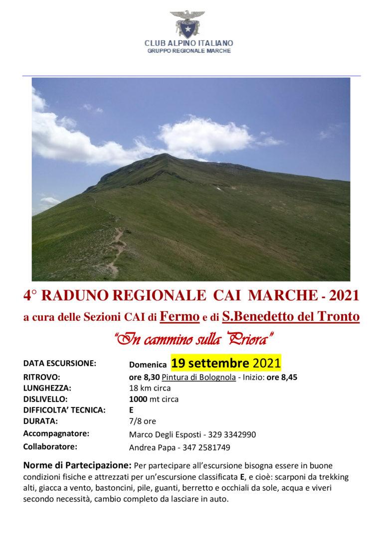 Raduno Regionale CAI. Monte Priora domenica 19 settembre